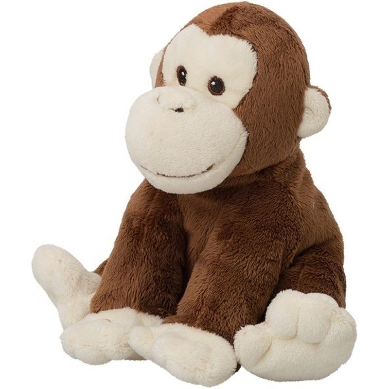 faaf50d01ed107 Bruine chimpansee aap/apen knuffels 18 cm knuffeldieren online ...